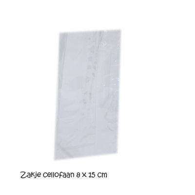 Transparant zakje 8 x 15 cm