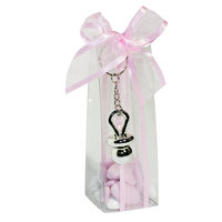 Transparant lang doosje roze 15,5 x b 5 x 4,5 cm  kleine afbeelding
