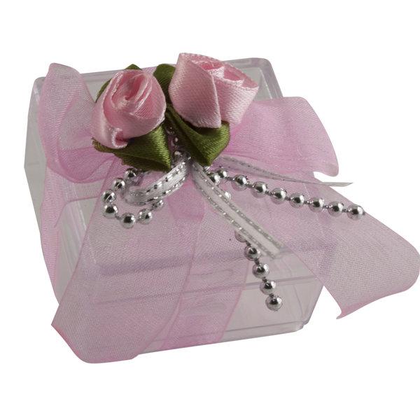 Doos met bloem roze