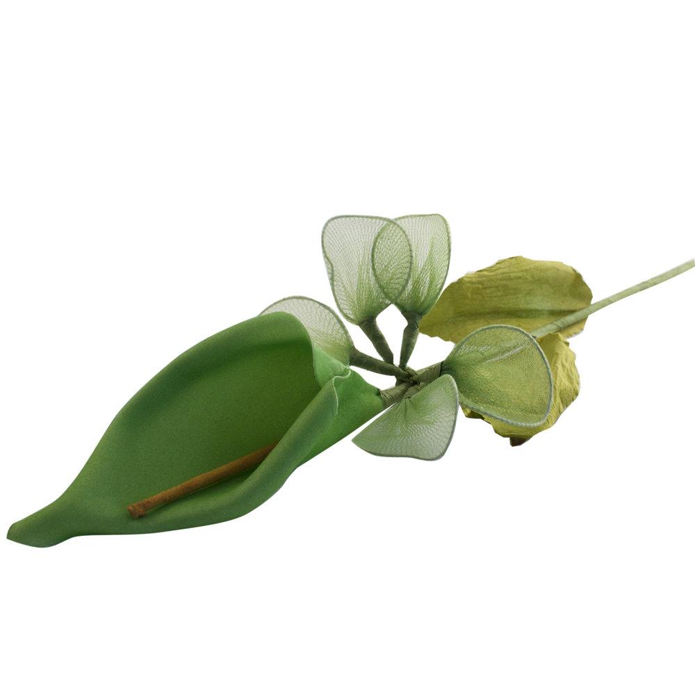 Kunstbloem groen Lelie