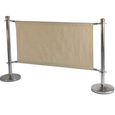 Afzetpaal banner neutraal doek