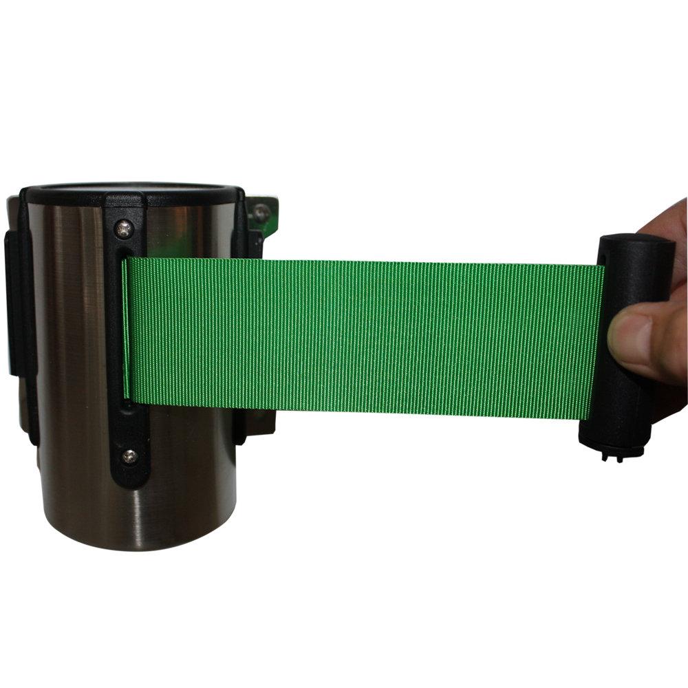 Muurbevestiging met lint of trekband voor bevestiging aan een afzetpaaltje