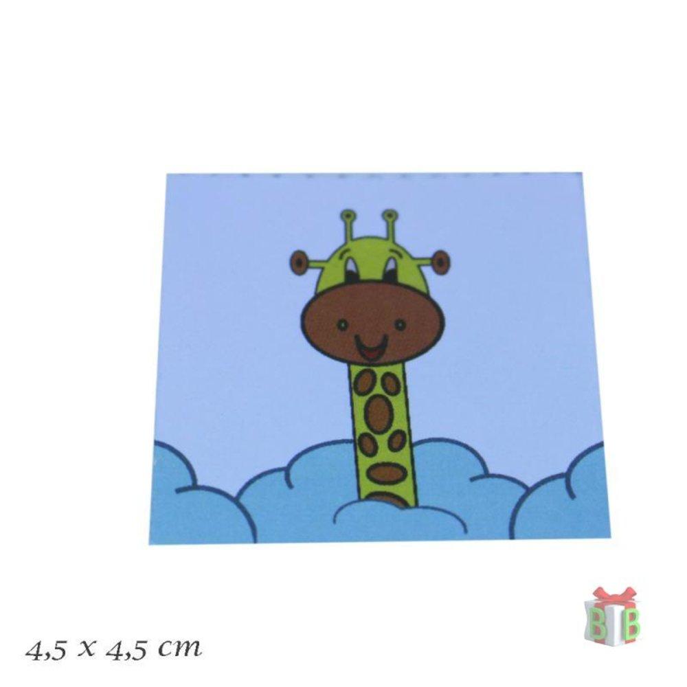 Giraf klein kaartje