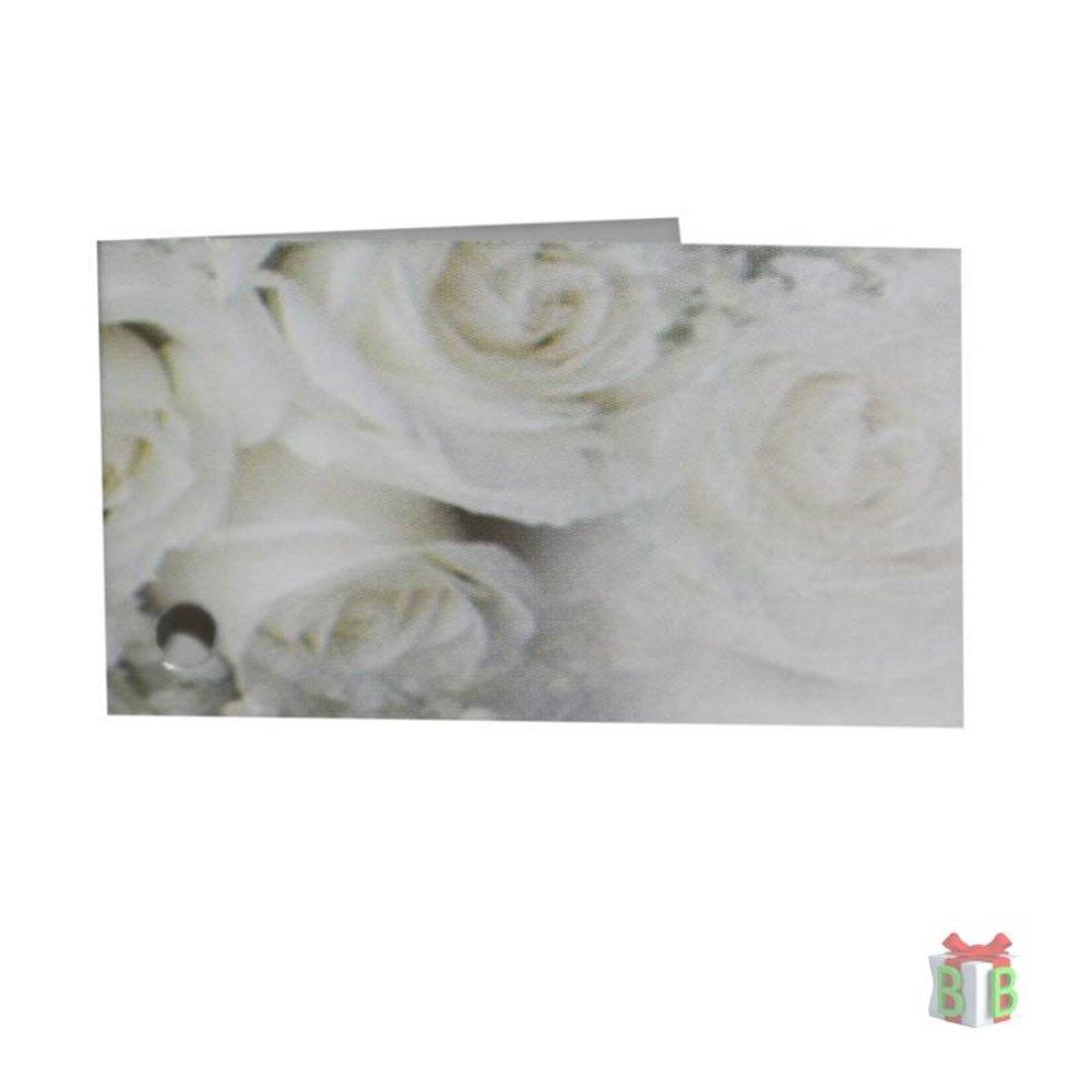 minikaartje met rozen