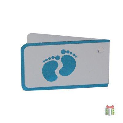 Minikaartje blauwe voetjes