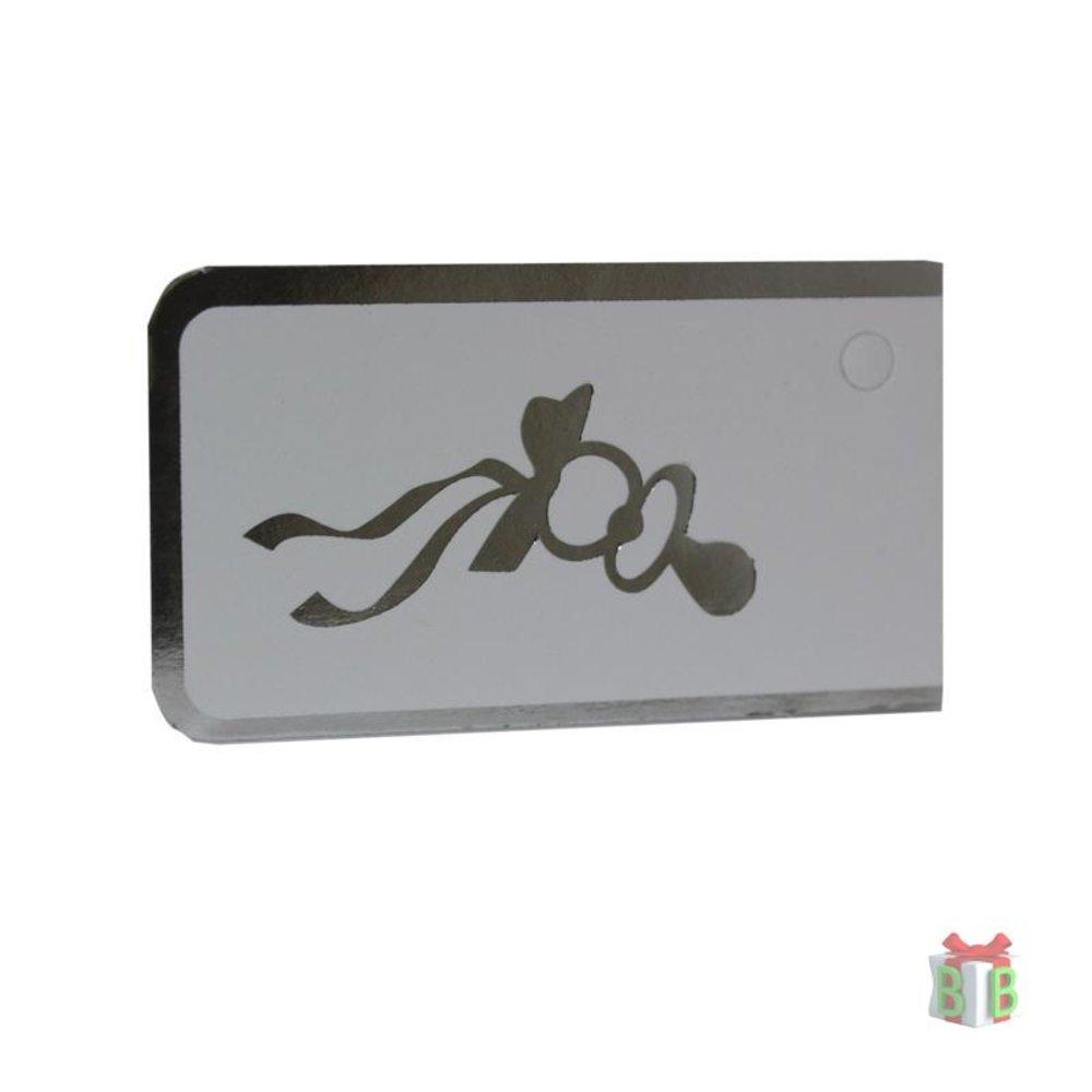 Minikaartje zilver speen