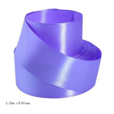 Satijn paars lint- 40 mm- 25 meter rol
