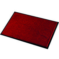 Droogloopmat rood met rand