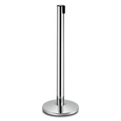 Aluminium luxe afzetpaal trekband zwart