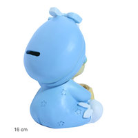 Taarttopper baby blauw spaarpot