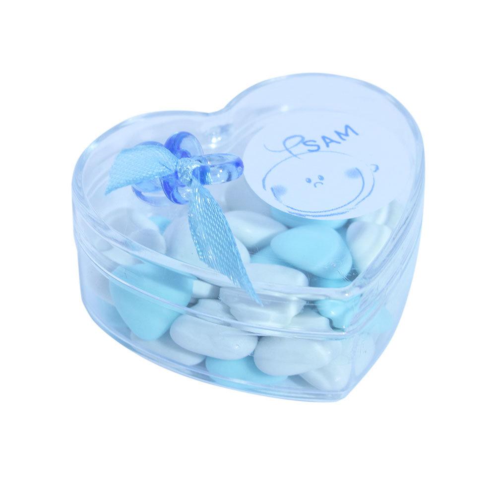 Bedankjes geboorte hart blauwe speen