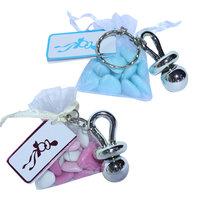 Speensleutelhanger met roze en blauw snoep  kleine afbeelding