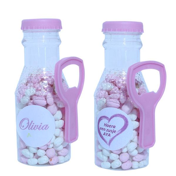 Fles opener roze