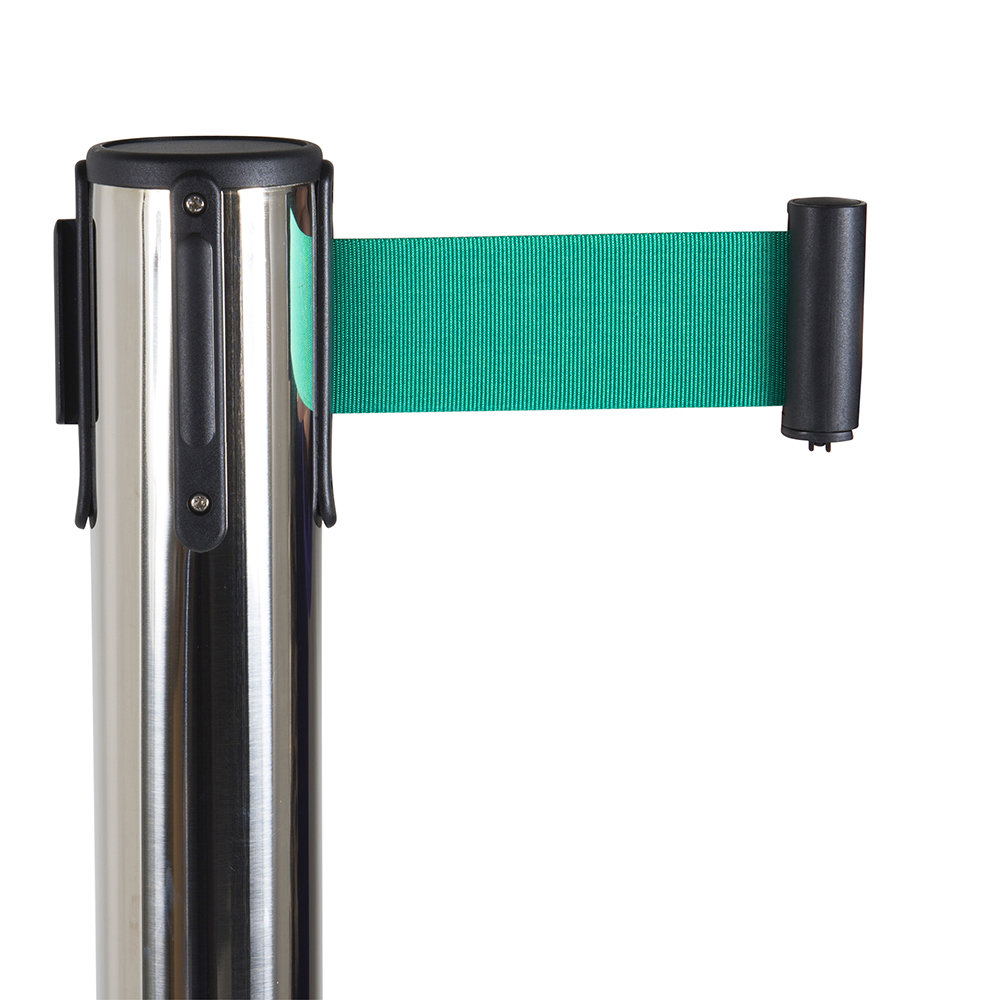 Afzetpaal zwart groen trekband detail