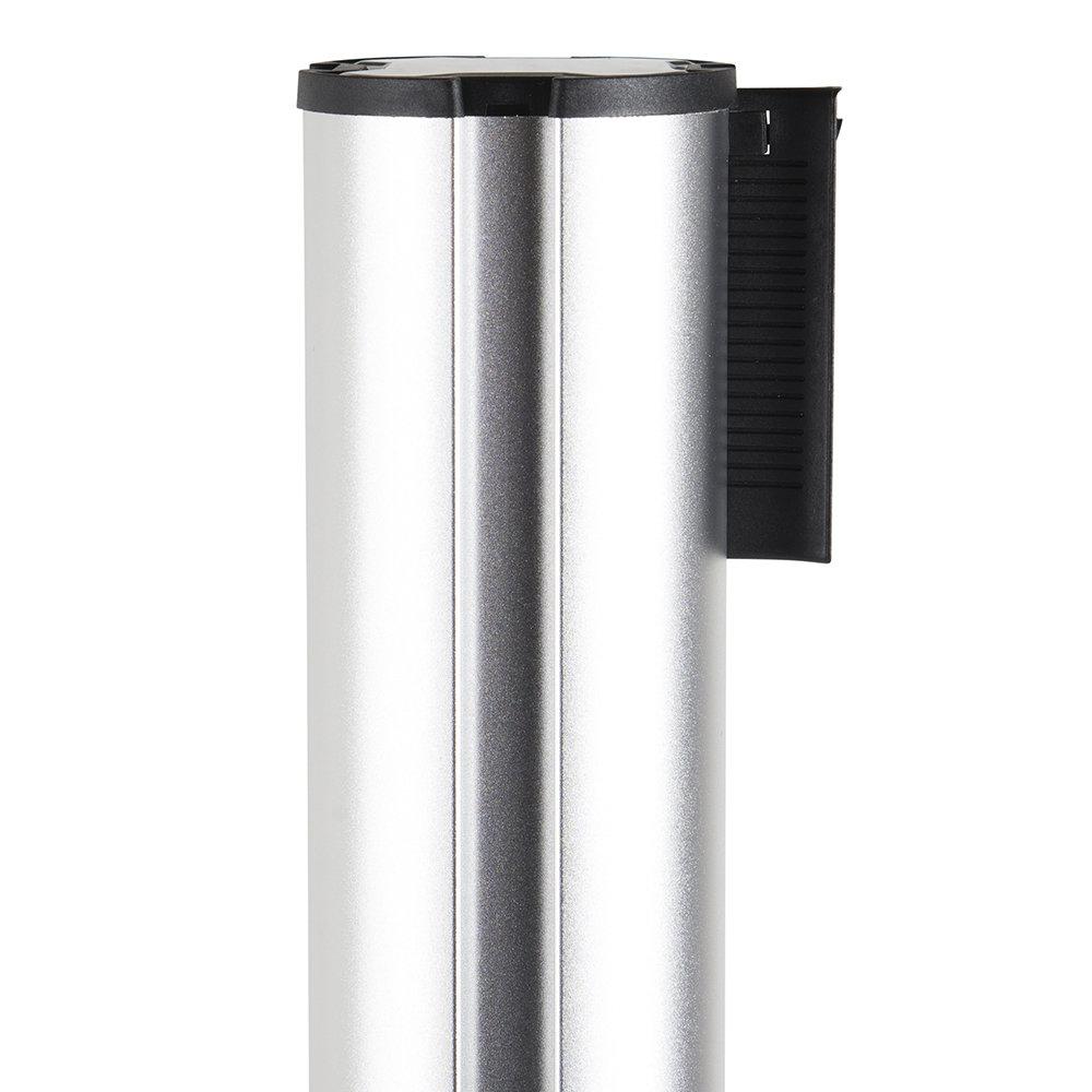 Afzetpaal aluminium zwart trekband detail