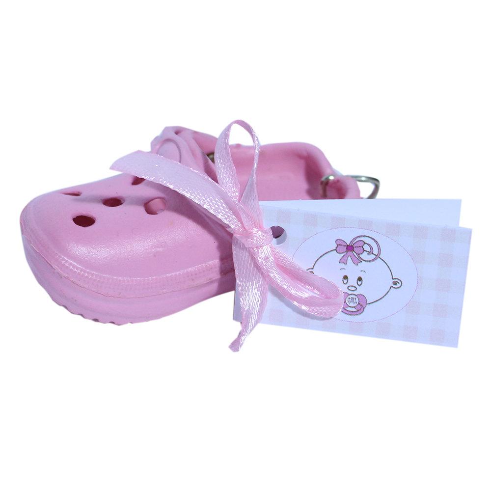Bedankje crocs sleutelhanger roze