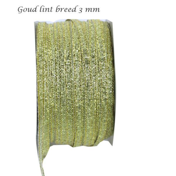 Goud lint 3 mm