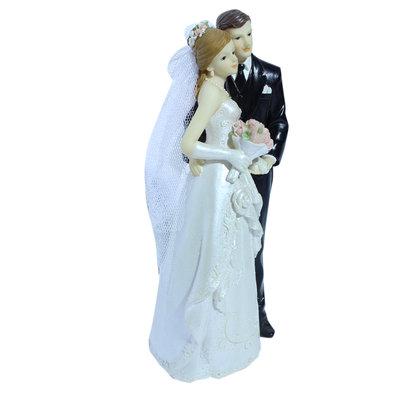 Taarttopper bruidspaartje 18 cm