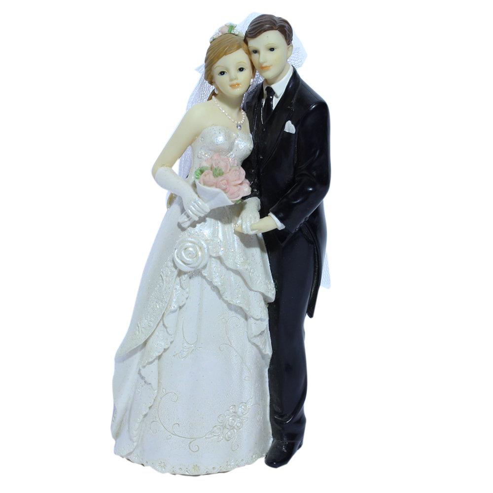 Taarttopper bruidspaar 18 cm