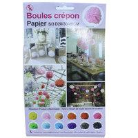 Raamdecoratie Boules Crepon roze   kleine afbeelding