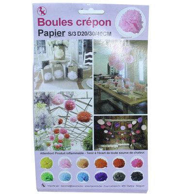 Boules Crepon roze