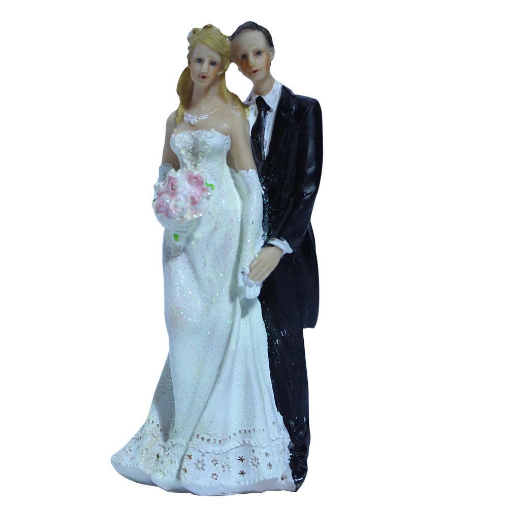 Taarttopper bruidspaartje 15 cm