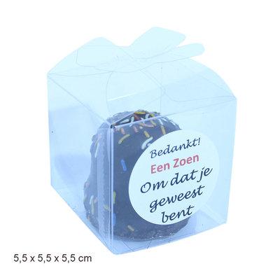 Plexi doosje klein 5,5 x 5,5 x 5,5 cm