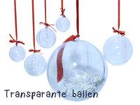 Transparante Kerstballen groot