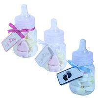 Geboortebedankjes papflesjes met speen  kleine afbeelding