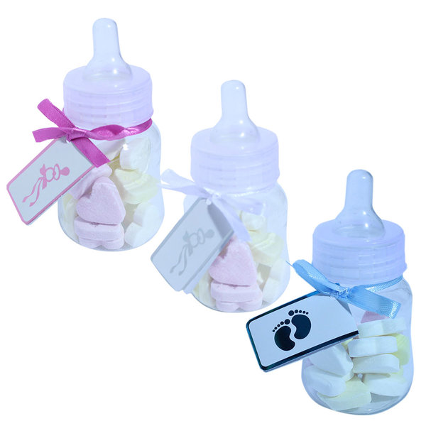 Geboortebedankjes papflesjes met speen