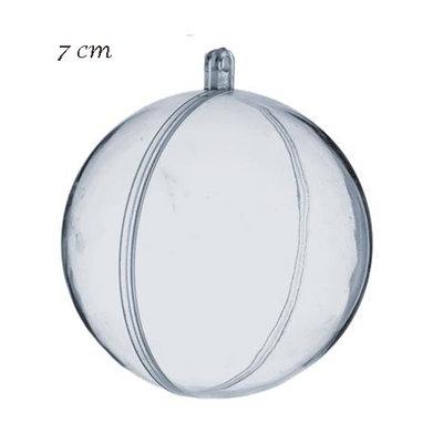 Transparante ballen 7 cm