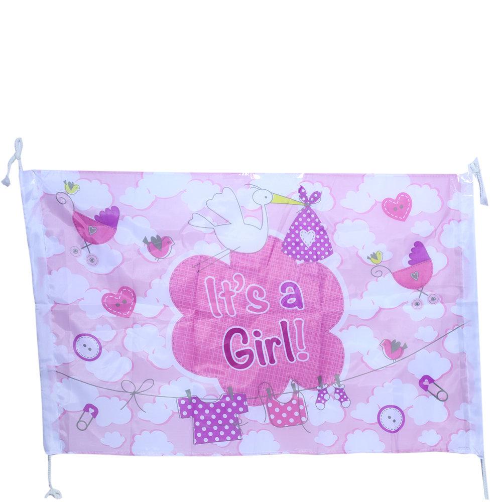 Geboortevlag roze it's a Girl