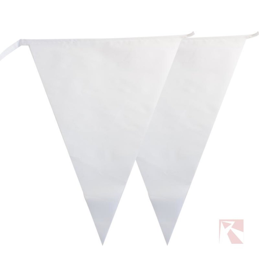 Vlaggetjes wit
