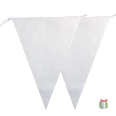 Vlaggenlijn wit brandvertragend