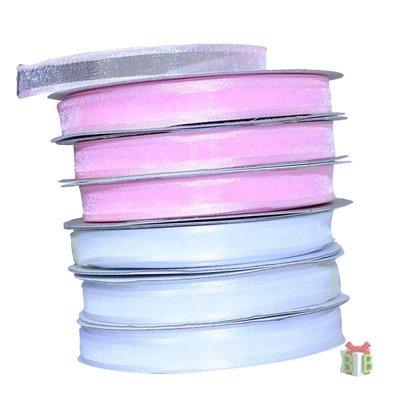 Organza lint wit 10 mm