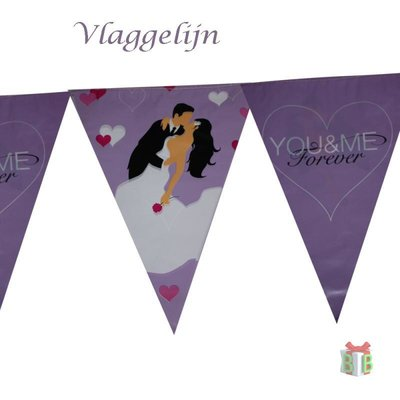 Versiering Just Married Vlaggelijn