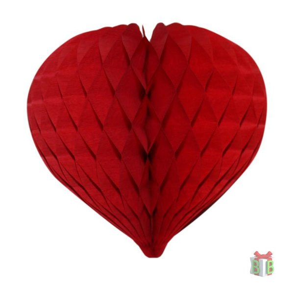 Rood uitvouwbaar hart