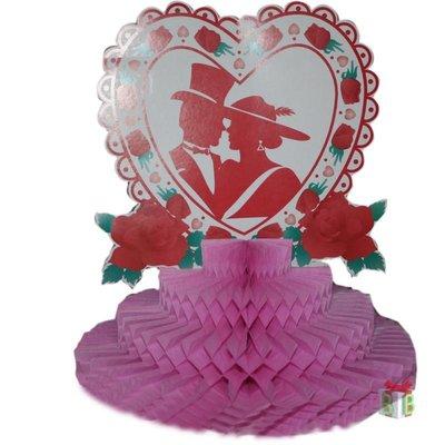 Tafeldecoratie Bruidspaar rode rozen