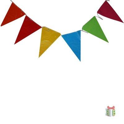 Vlaggenlijn gekleurde vlaggetjes