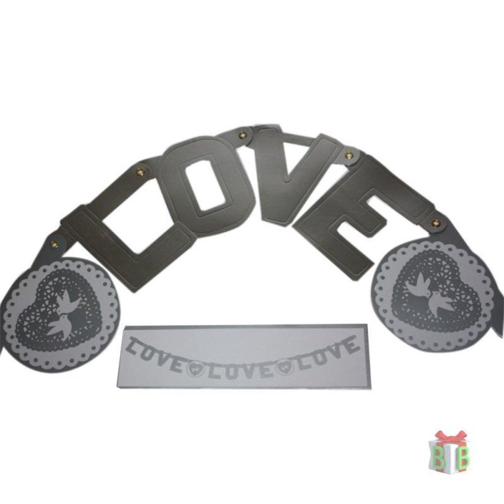 Raamslinger huwelijk LOVE Letterslinger