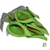 Kunst Boeket met groene lelies