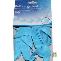 Doorknoop ballonnen blauw kleine afbeelding