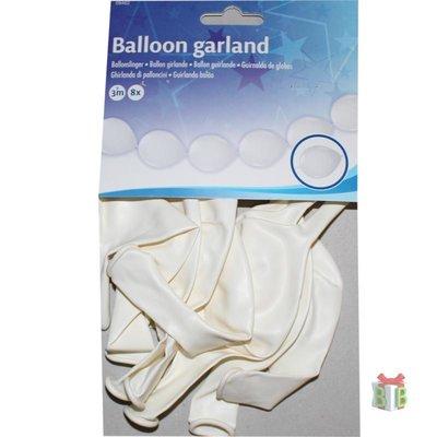 Doorknoop ballonnen wit