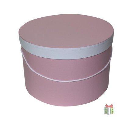 Enveloppendoos roze met koord