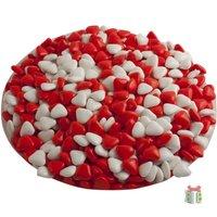 Dragees rood witte mini hartjes kleine afbeelding