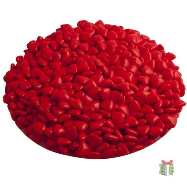 Rode Chocolade mini hartjes
