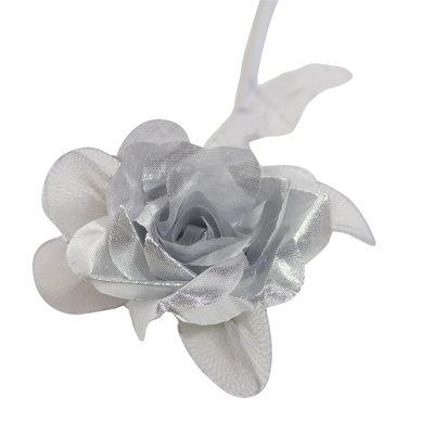Kunstbloem Zilveren roos