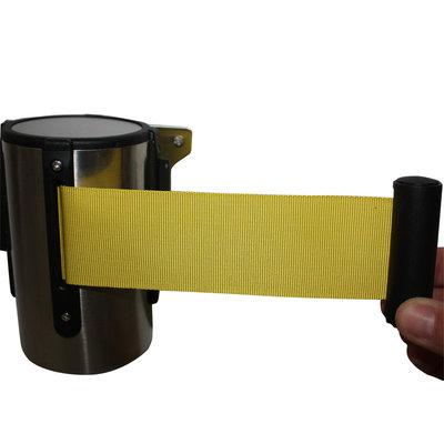 Muursysteem met geel trekband