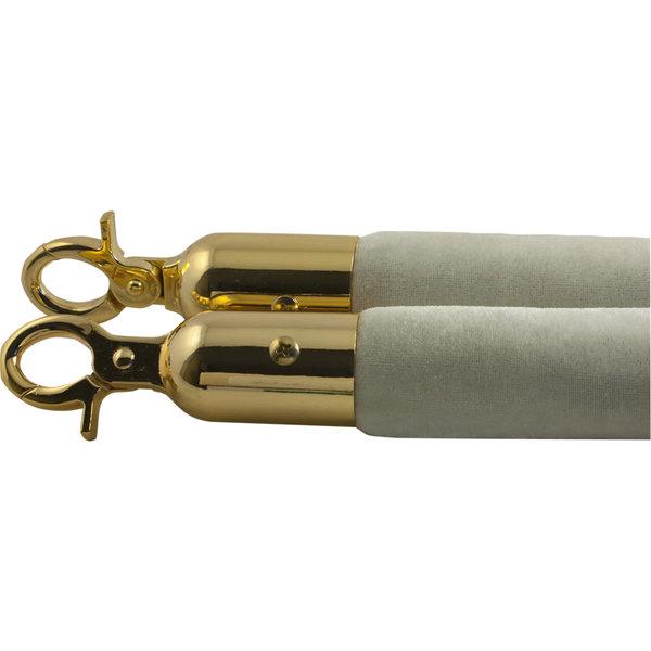 Afzetkoord ivoor met goud 32mm