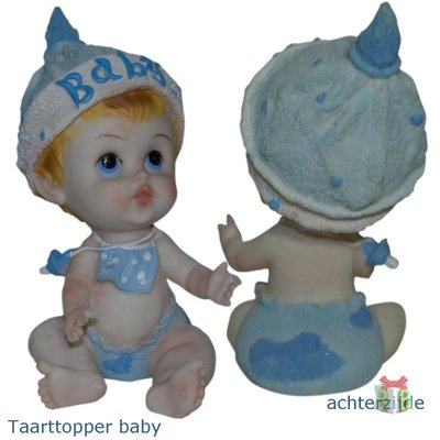 Taarttopper blauwe baby